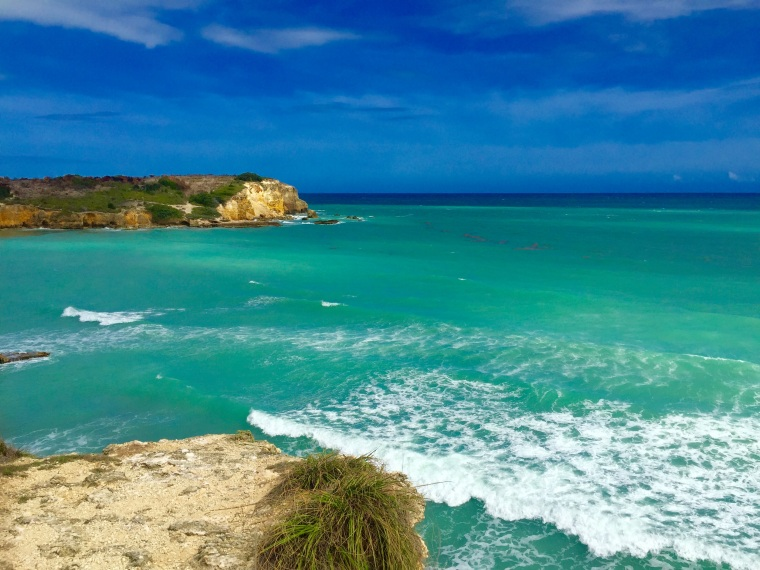 A view of the waters near the Faro (Lighthouse) at Cabo Rojo, Puerto Rico