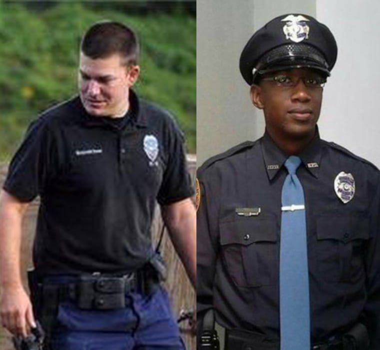 Officer Benjamin Deen, left, and Officer Liquori Tate, were shot to death during a May traffic stop.