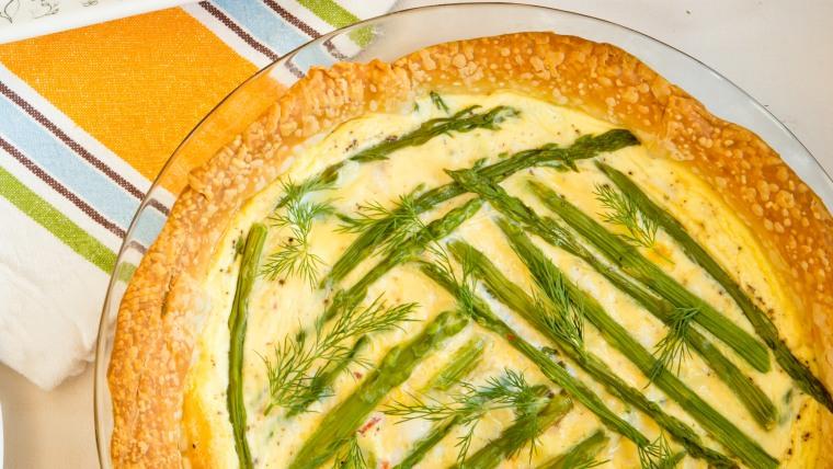 Spring Asparagus Breakfast Tart