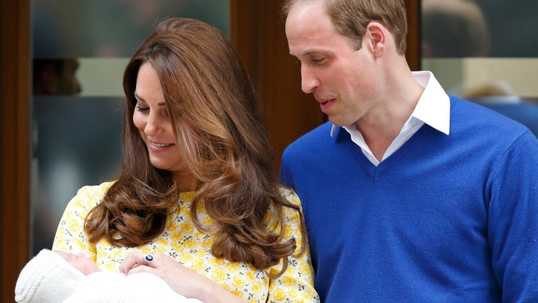 Duchess of Cambridge and Prince William and Charlotte