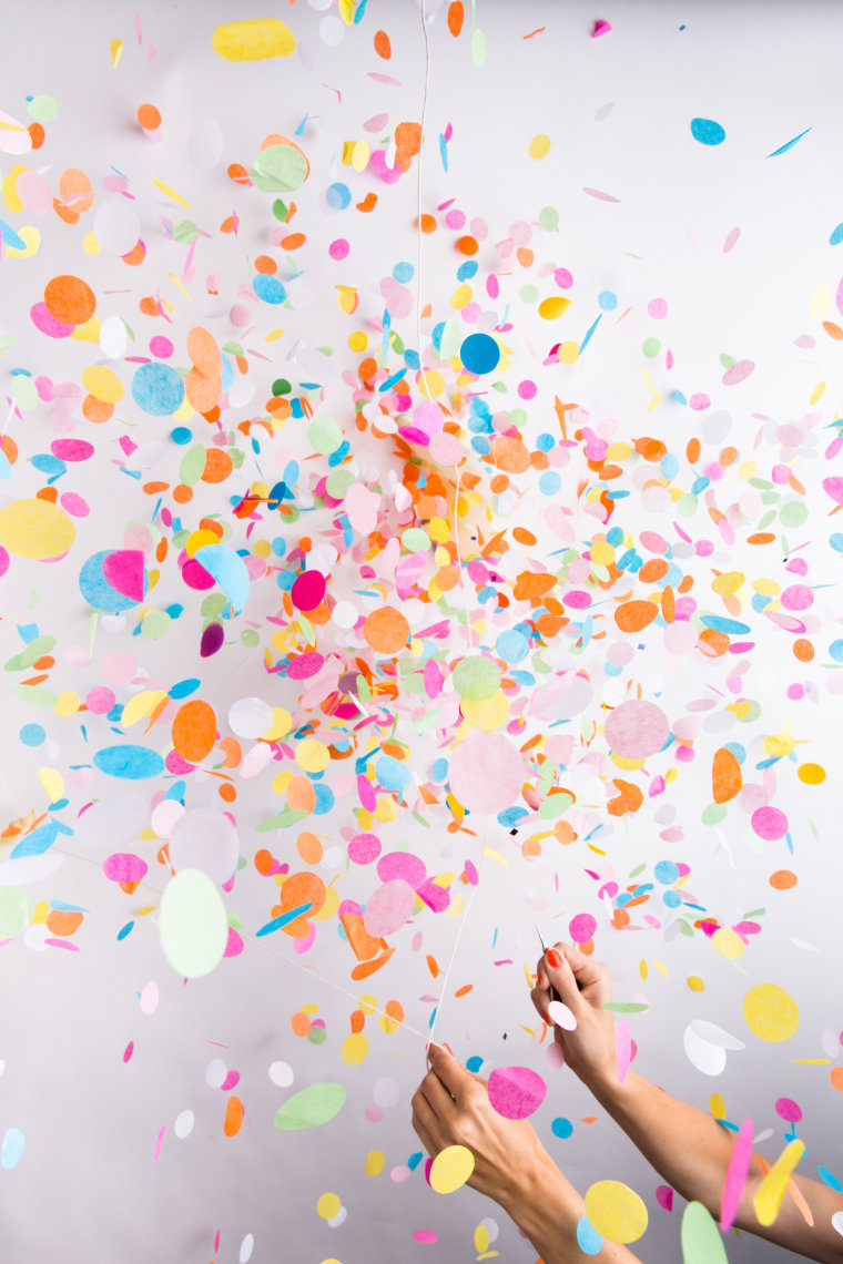 Image: Confetti-filled balloons