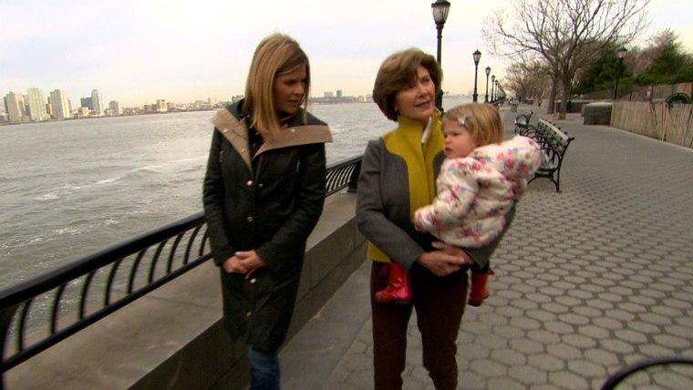 Jenna Bush Hager, Laura Bush and Mila