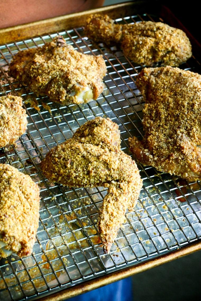 Gluten-free oven-fried chicken