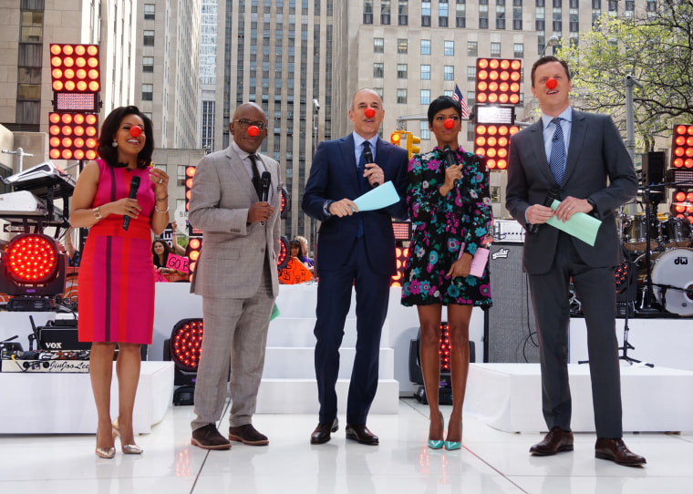 Matt Lauer announces Red Nose Day on the TODAY plaza