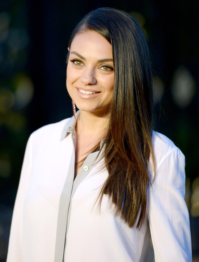 """Actress Mila Kunis attends the Burberry """"London in Los Angeles"""" event on April 16, 2015"""