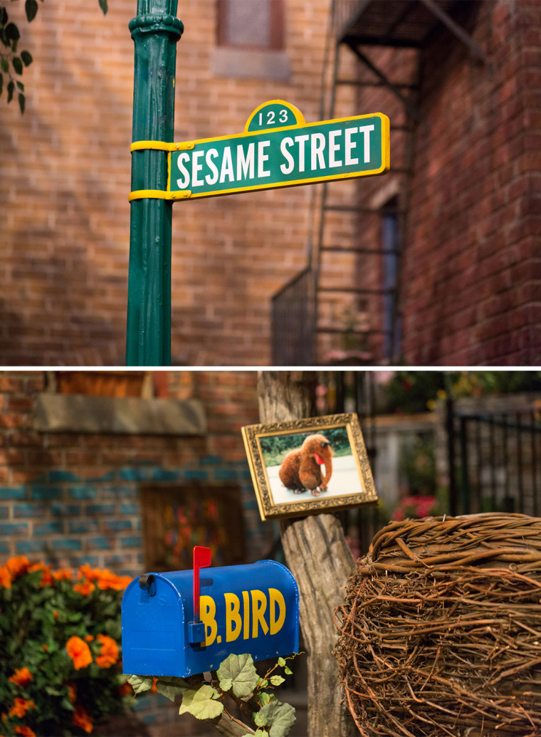 The famous Sesame Street sign