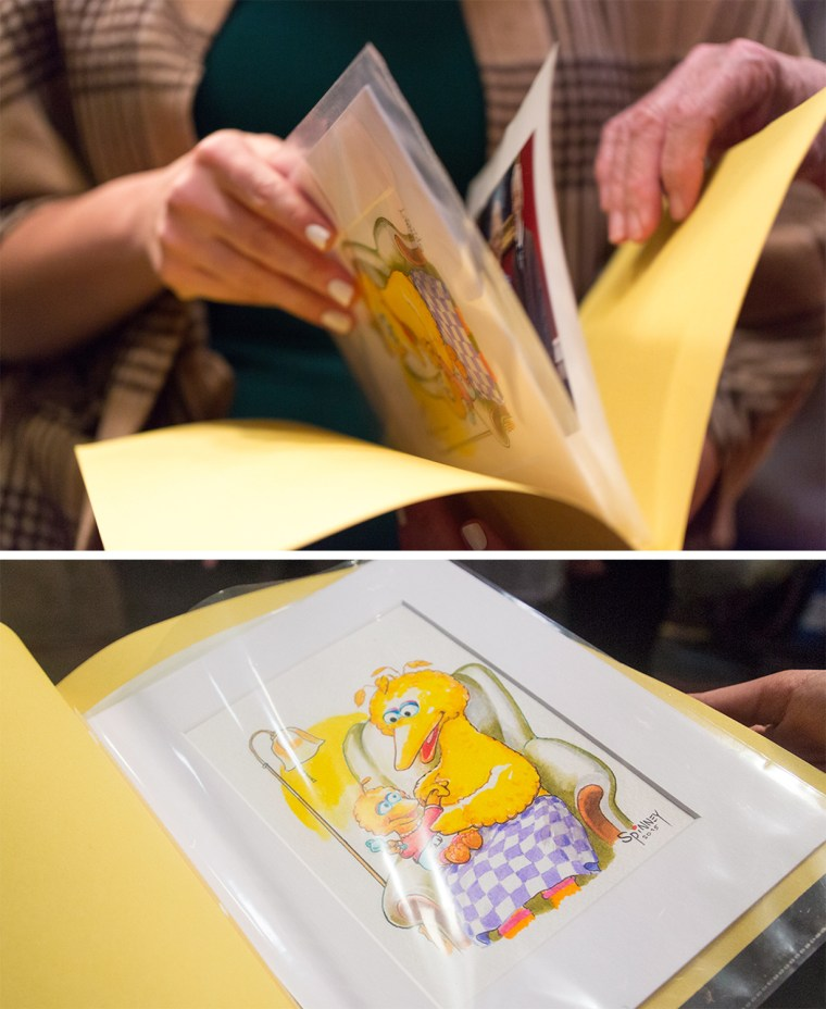 Caroll Spinney's artwork made just for Jenna Bush Hager