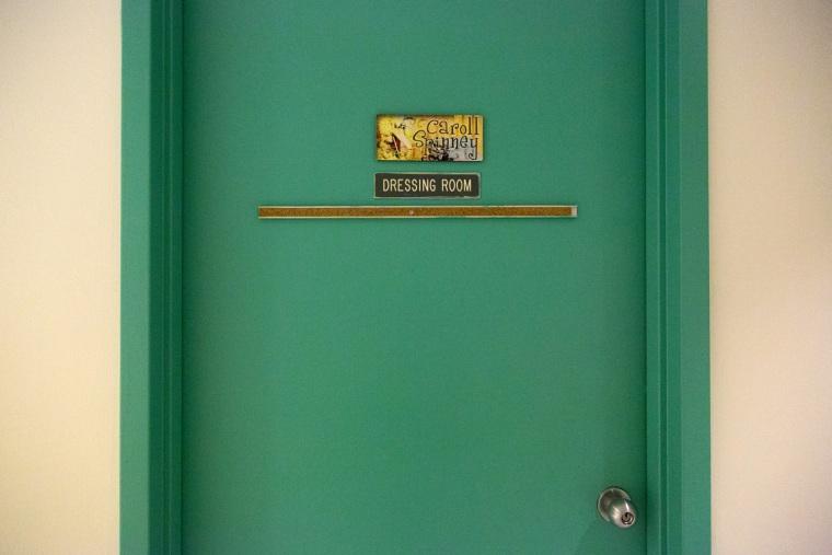Caroll Spinney's dressing room at the Sesame Street studios
