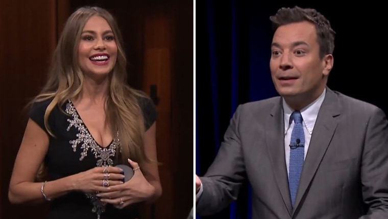 Sofia Vergara plays Catchphrase with Jimmy Fallon