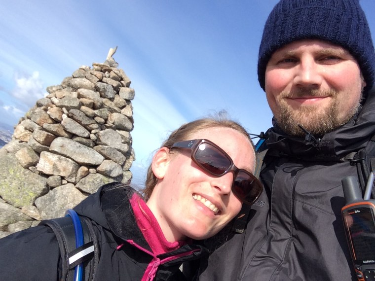 Anne-Marije Weerstra and André Nordstrand love to hike.