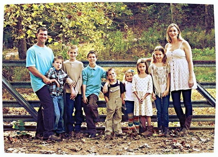 The Ronne family includes parents Ryan and Jessica, and their seven children from previous marriages. Jessica is pregnant with the couple's first child.