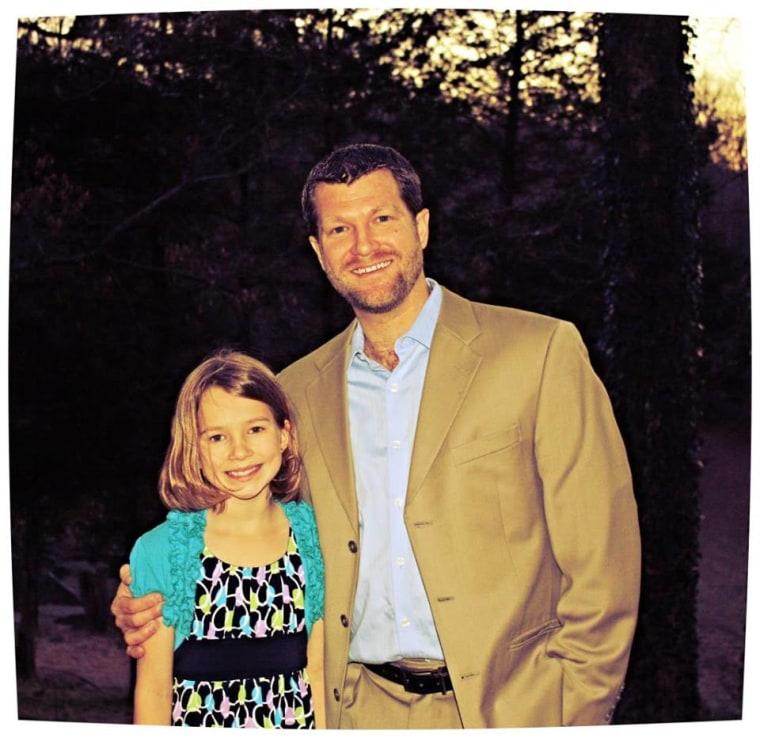 Ryan Ronne with his daughter Mya.