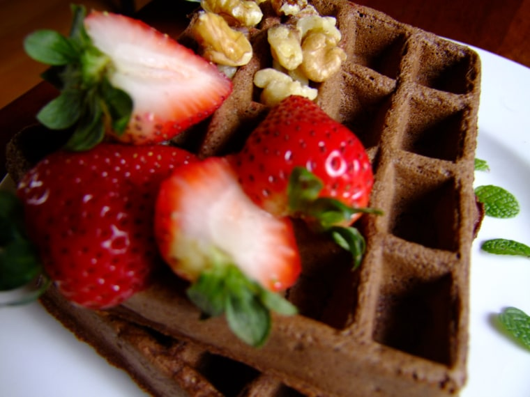 Mexican Chocolate Waffles Vegan Style