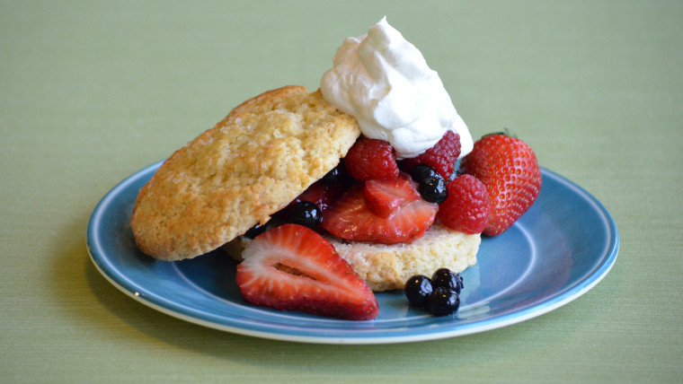 Lemon Olive Oil Shortcakes with Macerated Berries