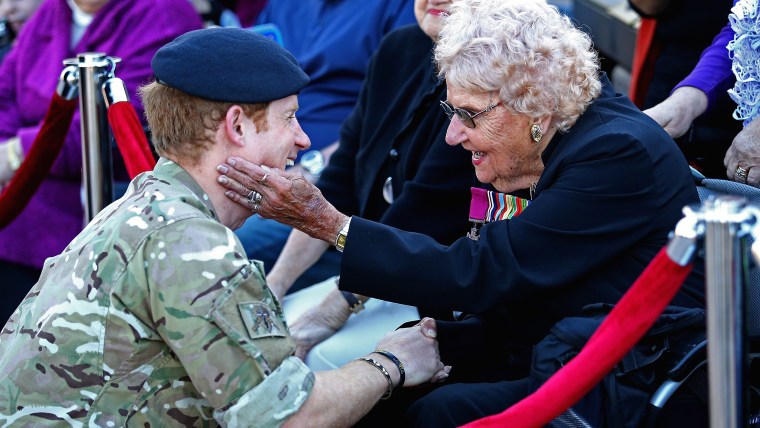 Prince Harry meets Daphne Dunne in Sydney