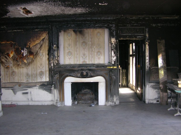 The mansion's master bedroom before the renovation.