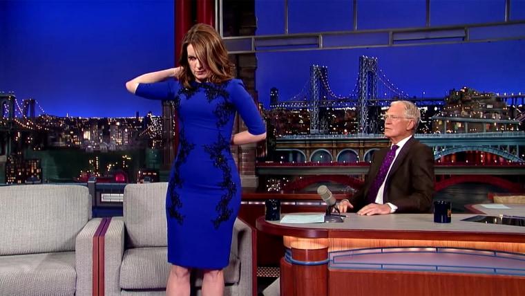 Tina Fey's #LastDressEver on David Letterman