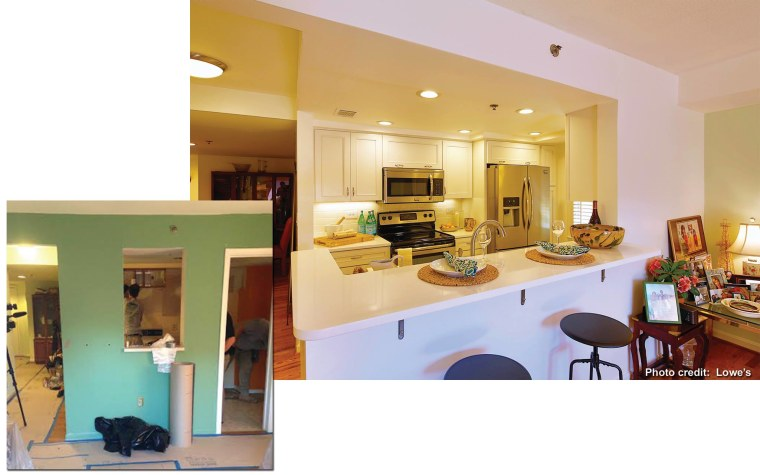 Before and after, from another angle.