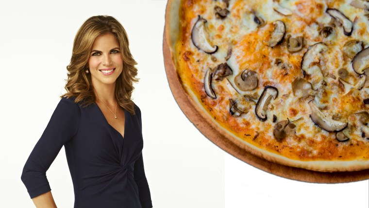 Natalie Morales loves pizza