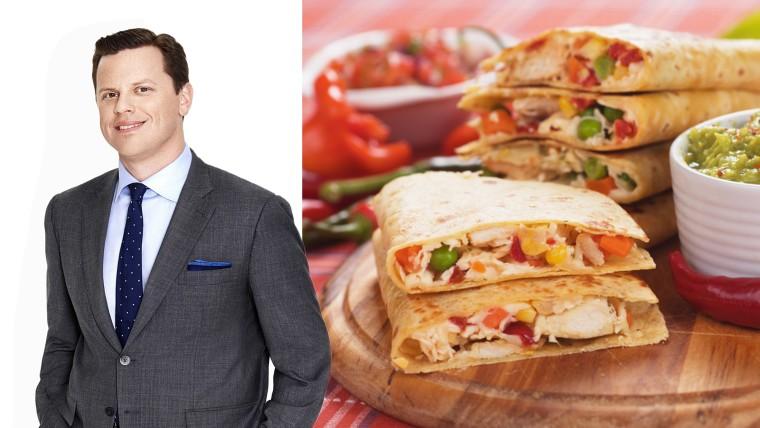 Willie Geist and chicken quesadilla