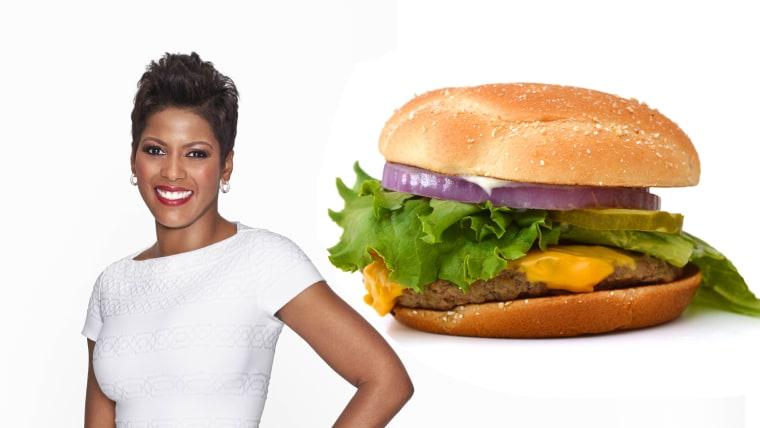 Tamron and cheeseburger