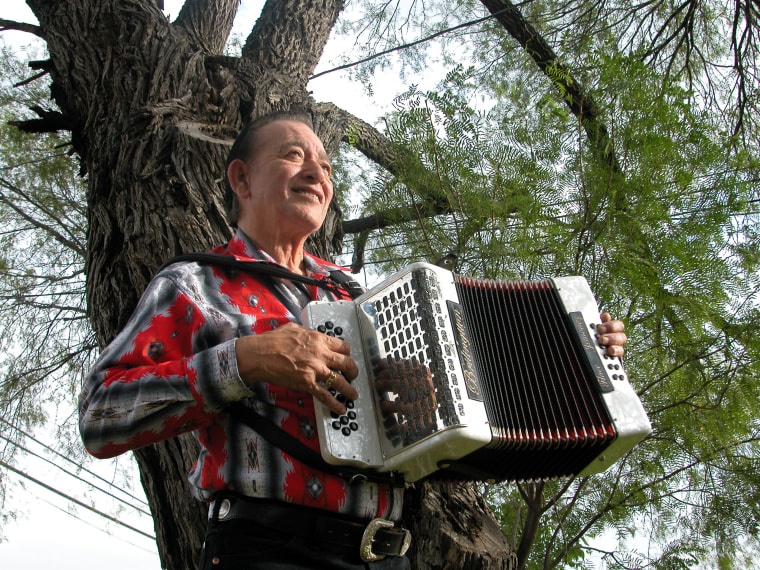 Accordionist and Conjunto and Tejano music legend Flaco Jimenez. The Grammy Lifetime Achievement Award winner has played with the likes of  B.B. King, The Rolling Stones, Bob Dylan, Pete Seeger and many others.