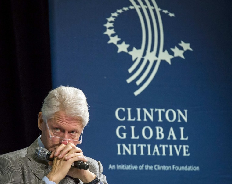 Image: File photo of former U.S. President Bill Clinton attending the Clinton Global Initiative's 2015 Winter Meeting in New York