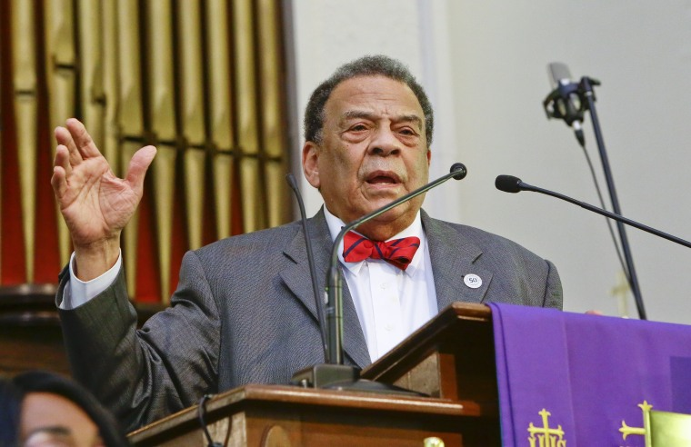 Image: Andrew Young on March 8, 2015
