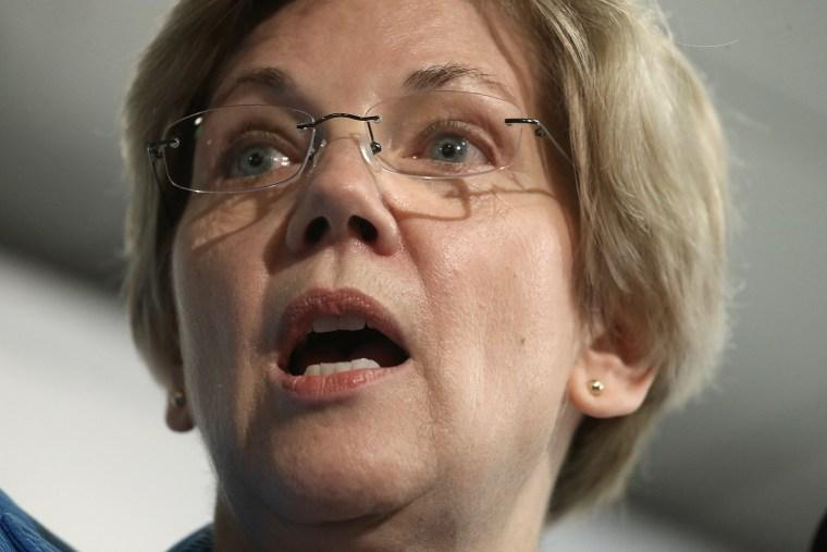 Image: NYC Mayor Bill De Blasio And Sen. Elizabeth Warren Release Progressive Agenda Report
