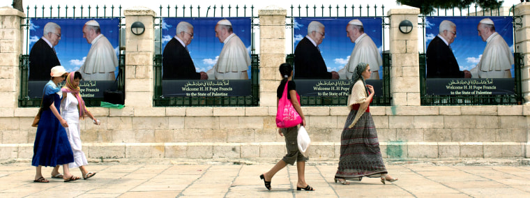Image: Pope Francis visited Bethlehem in 2014