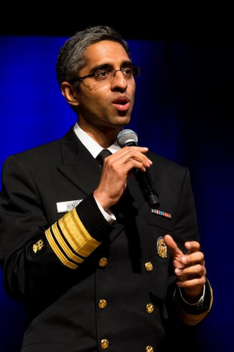 Surgeon General of the United States Dr. Vivek Murthy delivers remarks following the announcement of his appointment as Co-Chair of the White House Initiative on Asian Americans and Pacific Islanders, May 12, 2015.