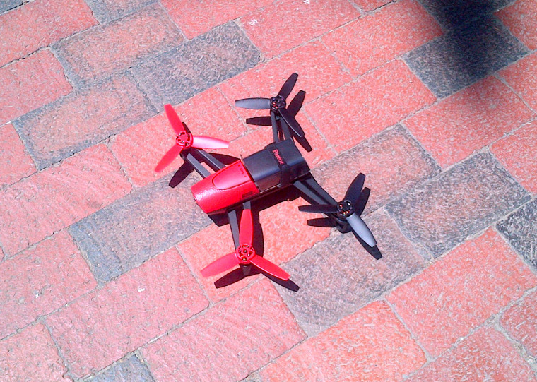At approximately 1:09 pm today, a small UAV was identified by U.S. Secret Service Uniformed Division Officers flying over Lafayette Park at approximately 100 feet in altitude.
