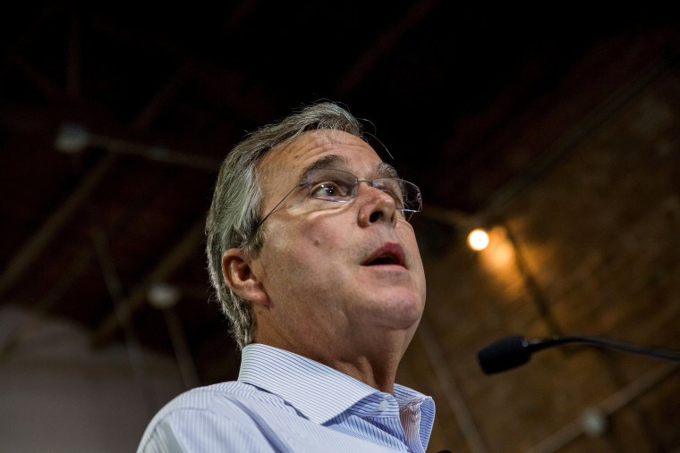 Image: Former Florida Governor Jeb Bush speaks at a town hall meeting in Tempe, Arizona