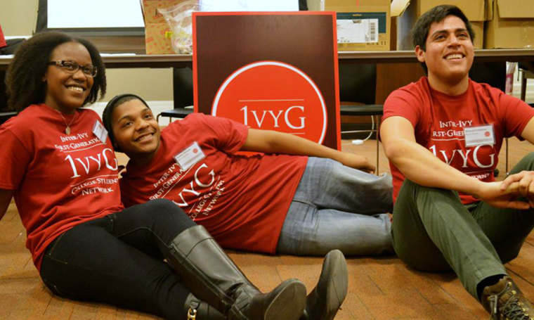 Image: Founders of IvyG, an organization that seeks to connect and empower first-generation students