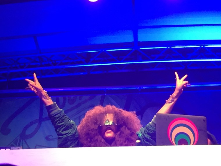 "Erykah Badu appeared as ""DJ Loretta Brown,"" at The Broccoli City Festival on April 25, 2015 at Gateway Pavilion."