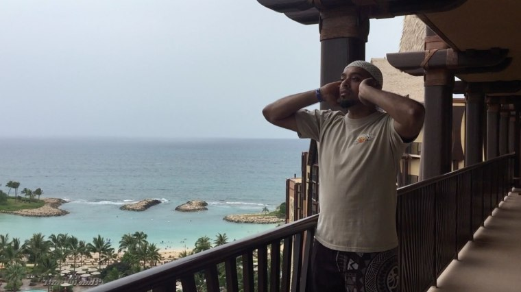 Jameel Syed delivers the call to prayer in Honolulu.