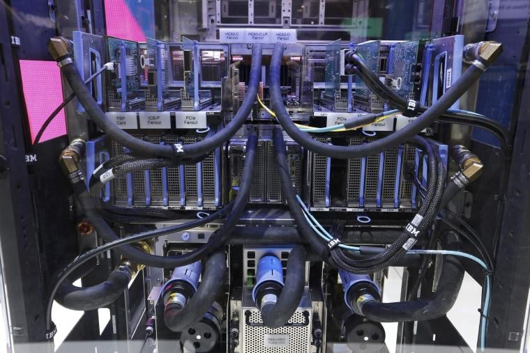 Image: Cooling system of an IBM mainframe server