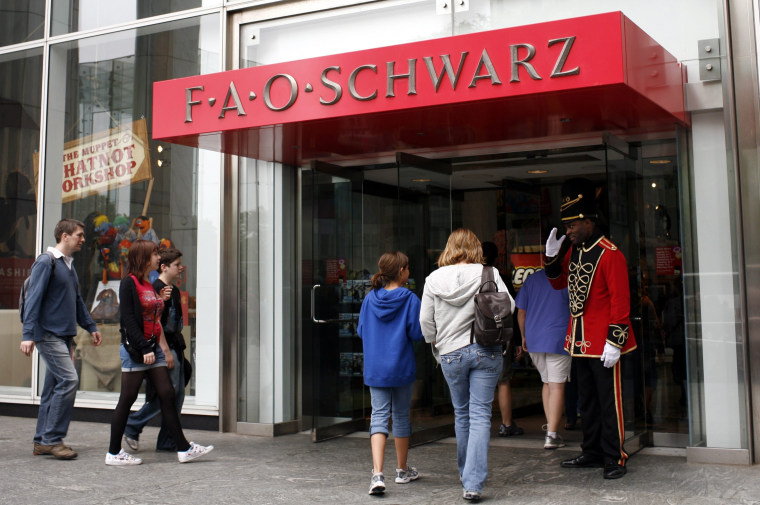 Image: FAO Schwarz toy store on Fifth Avenue in New York City