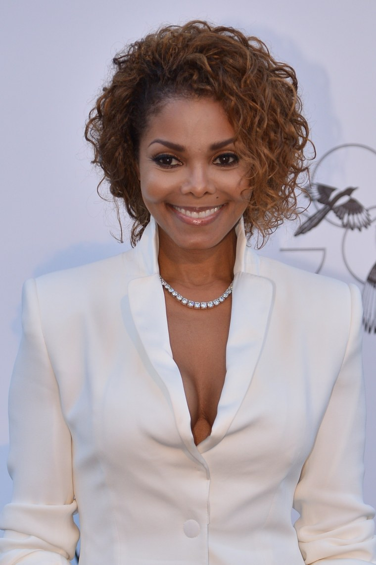 This May 23, 2013 file photo shows US singer Janet Jackson as she arrives for the amfAR's 20th Annual Cinema Against AIDS during the 66th Annual Cannes Film Festival at Hotel du Cap-Eden-Roc in Cap d'Antibes, southern France.