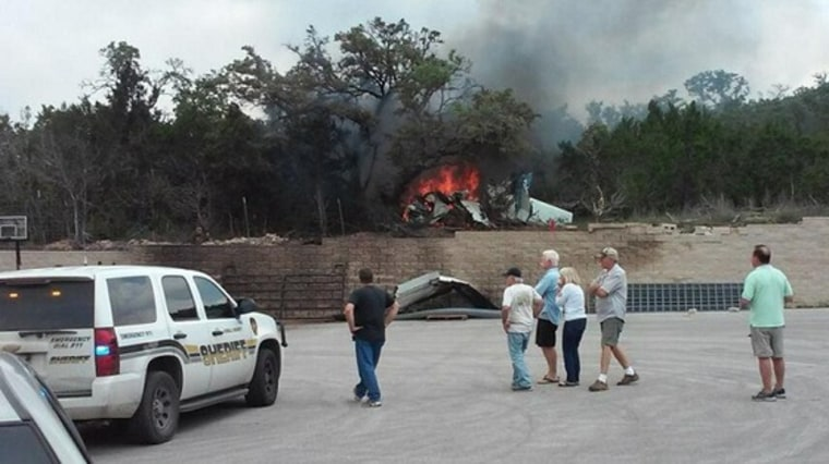 Four people were killed when a single-engine plane crashed just off of Highway 281 in Spring Branch.