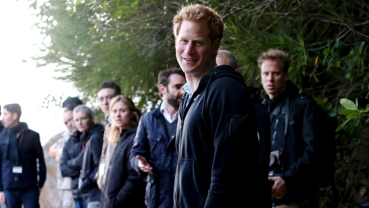 Britain's Prince Harry visits Ulva Island off the coast off New Zealand's south island