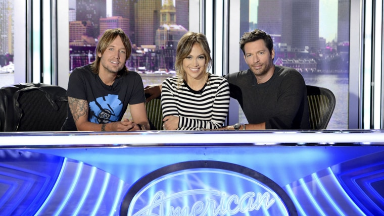 Keith Urban, Jennifer Lopez and Harry Connick Jr