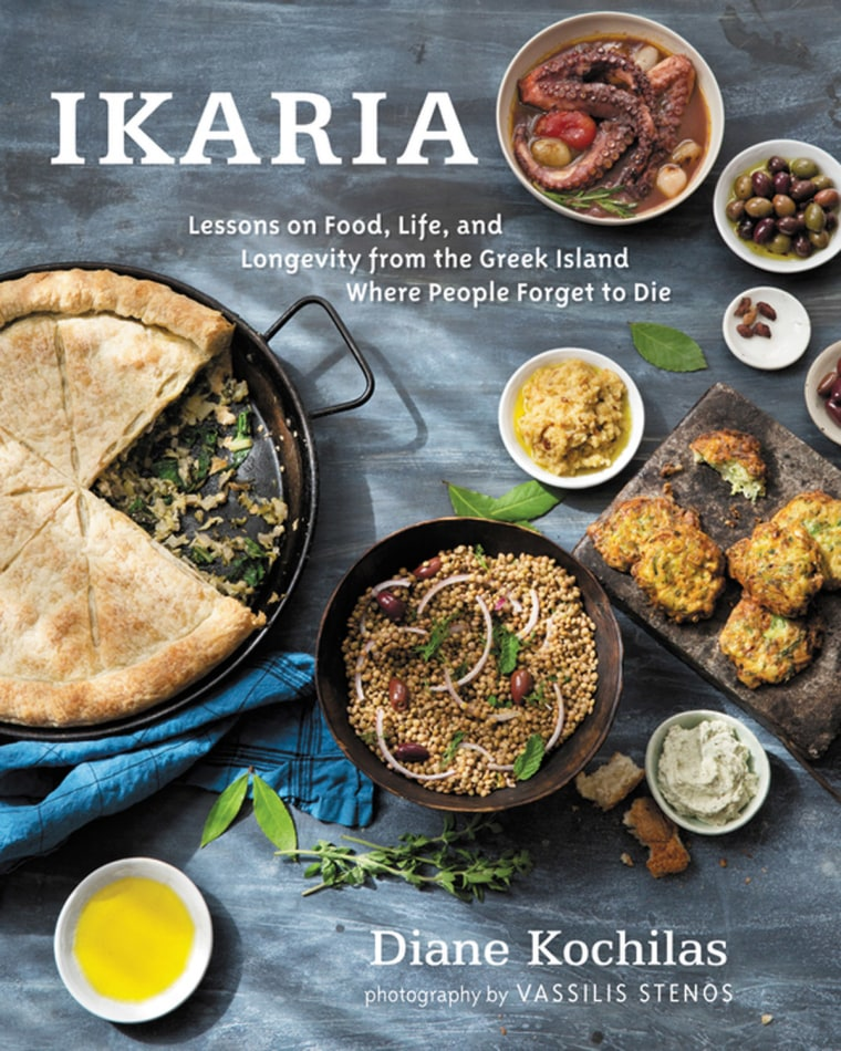 Cover of Ikaria: Lessons on Food, Live, and Longevity from the Greek Island Where People Forget to Die