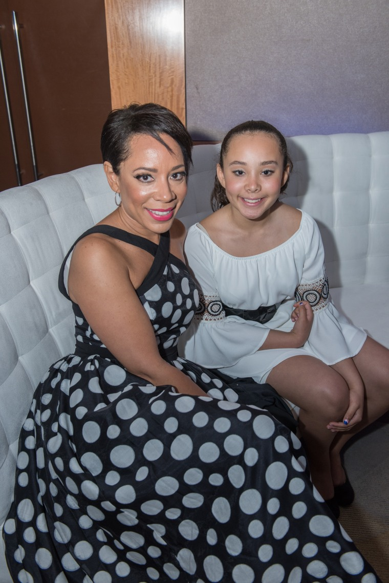 """Orange is the New Black"" star Selenis Levya and her daughter, Alina, attend the prom for chronically ill teens at The Children's Hosptial at Montefiore."