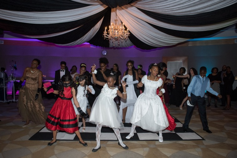 Teens dance the night away at a prom hosted by The Children's Hospital at Montefiore.