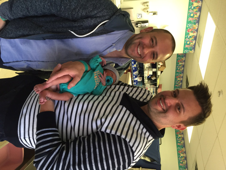 Joe Morales and Joey Famoso wanted to adopt a baby and got one after singing about their wish in a viral video.