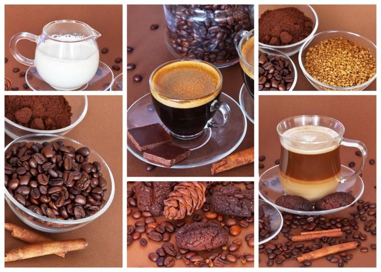 Espresso and latte.