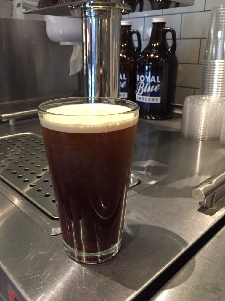 Nitro coffee from Royal Blue Grocery in Austin