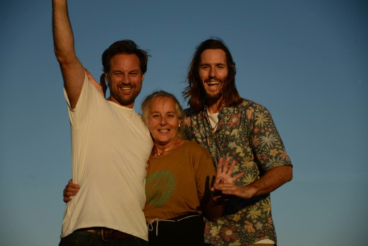 From left, Chris Lyngaas, Eva Lyngaas and Alex Lyngaas.