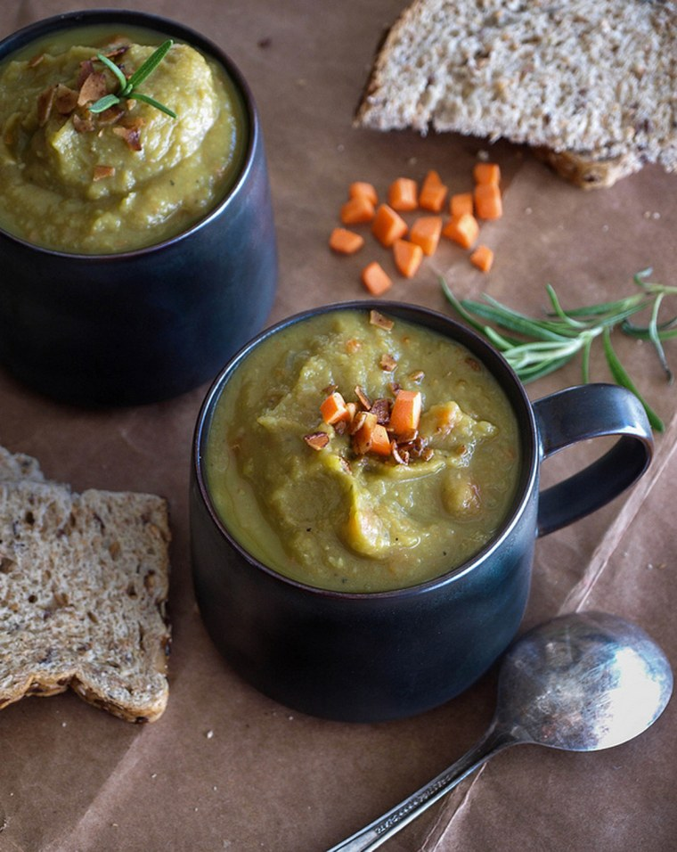 Slow Cooker Parsnip and Split Pea Soup